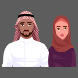Attractive Muslim man and woman. - 181451966