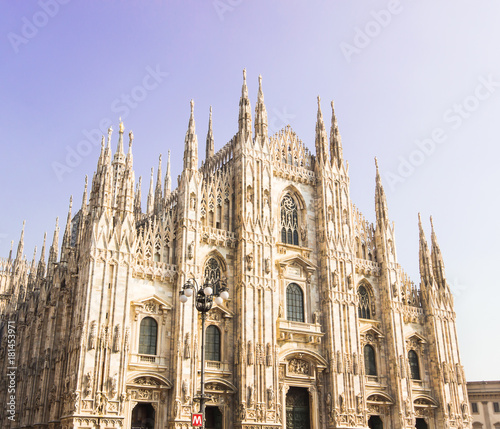 Foto op Canvas Milan Milan Cathedral, Duomo di Milano, one of the largest and famous churches in the world.