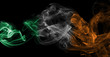 Ireland flag smoke - 181454537