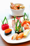 close up of sashimi sushi set - 181457123