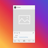 Mockup of social network photo frame inspired by social media. Modern design. Vector illustration. - 181463361
