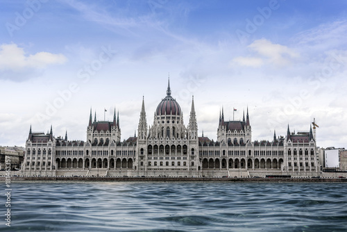 Hungarian Parliament in Budapest, Hungary.