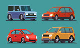 Car vector template on gray background.