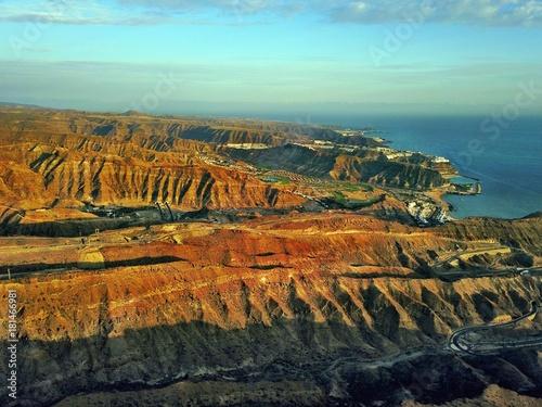 Poster Lichtblauw Gran Canaria