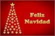 Tarjeta de Navidad con árbol de estrellas en español