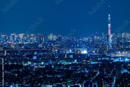 Aluminium Tokio 東京スカイツリーの夜景