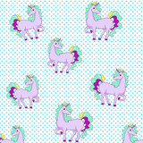 cute unicorn and star background
