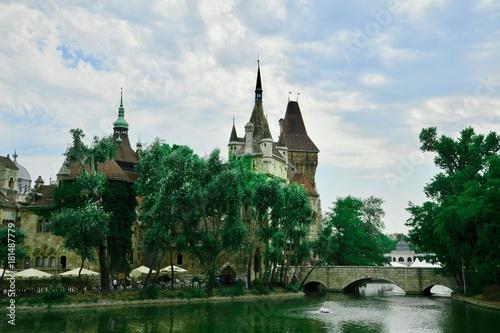 In de dag Boedapest Château pittoresque de Budapest, Hongrie