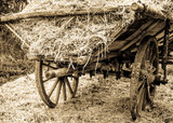 old wooden cart - 181488542