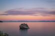 Beautiful sunset at Bonsai Rock, Lake Tahoe