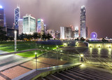 Stunning night view of the famous Hong Kong island business district skyline - 181491938