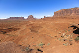 View from John Ford Point inside Monument Valley, Arizona