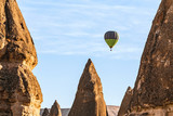 The great tourist attraction of Cappadocia and Turkey - balloon flight.