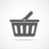 Shopping basket icon. Vector illustration - 181498352