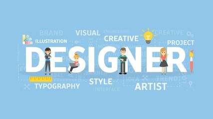 Designer concept illustration.
