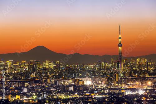 In de dag Tokio Tokyo Sunset