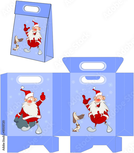 Papiers peints Chambre bébé Cute Santa Claus.Handbags Packages Pattern