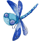 Cartoon insect watercolor illustration. - 181512150
