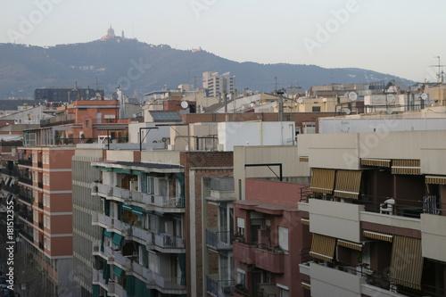 Deurstickers Barcelona Arquitectura en Barcelona (Cataluña, España)