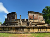 Sri Lanka Polonnaruwa ruin was the second capital of Sri Lanka after the destruction of Polonnaruwa. The photograph is presenting Vatadage (Round House) - 181516939