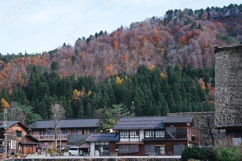 Obraz na płótnie Shirakawa-go in Autumn