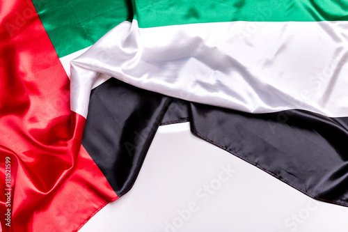 Deurstickers Abu Dhabi Authentic flag of the UAE