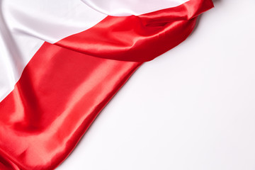 Authentic flag of the Poland