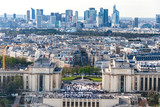 Aerial view of Trocadero from the Eiffel Tower
