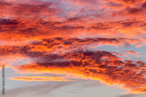 Foto op Canvas Koraal Sunset clouds