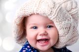 Caucasian baby girl portrait. - 181541188