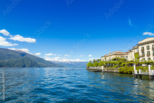 In de dag Milan Shore of Lake Como in Bellagio city in Italy