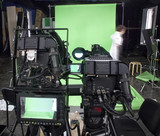 Professional digital video camera. cinematography in the pavilion - 181543547