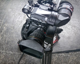 Professional digital video camera. cinematography in the pavilion - 181543592