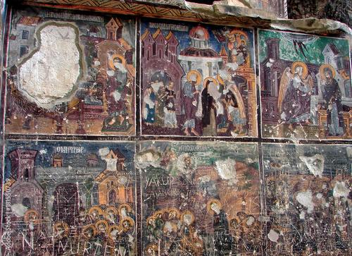 In de dag Graffiti Sumela Monastery, Trabzon, Turkey
