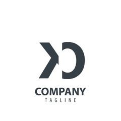 Initial Letter KO Design Logo