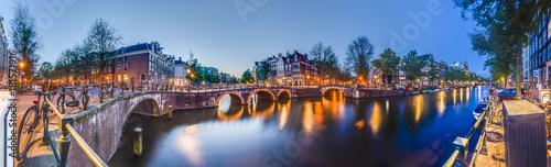 In de dag Amsterdam Keizersgracht canal in Amsterdam, Netherlands.