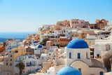 Santorini skyline blue church - 181572733