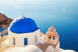 Santorini skyline blue church - 181572775