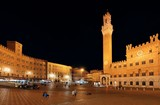 Siena City Hall Bell Tower at night - 181572905