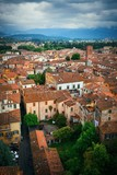Lucca rooftop view with mountain - 181572959