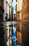 Lucca street reflection - 181572969