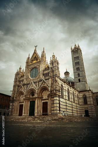 Fridge magnet Siena Cathedral in an overcast day