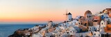 Santorini skyline sunset - 181573580
