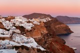 Santorini skyline sunrise - 181573581