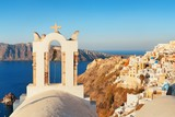 Santorini skyline bell tower - 181573584
