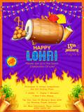 Happy Lohri holiday background for Punjabi festival - 181578377
