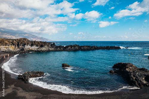 Aluminium Canarische Eilanden Los Cancajos beach, La Palma, Santa Cruz de Tenerife, Canary Islands, Spain.