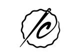Classic Circle Letter IC Initial Needle Illustration Logo Design - 181581778