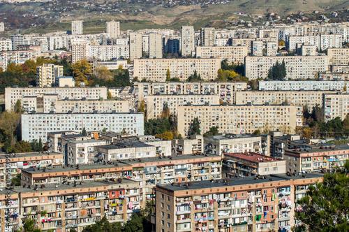 Obraz na płótnie overpopulated city