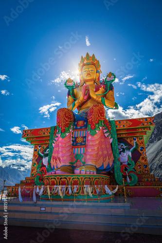 Foto op Aluminium Boeddha Buddha Maitreya statue in Diskit Gompa. Nubra Valley. Ladakh, In